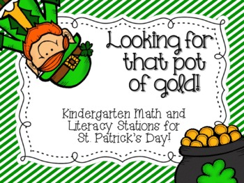 Looking for that Pot of Gold! {St. Patrick's Day Station A