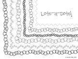 Lots-a-Dots Clip Art Border Frames
