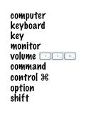 MAC Computer Lab Word Wall