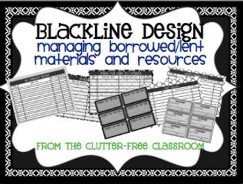 MANAGING BORROWED / LENT ITEMS {Blackline Design}