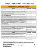 MATH Common Core-3rd grade Standards Checklist- Proficienc