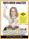 MATH Common Core - You're the teacher!-Subtraction Error A