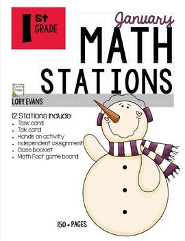 MATH STATIONS - Common Core - Grade 1 - JANUARY