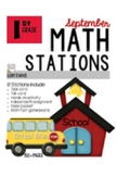MATH STATIONS - Common Core - Grade 1 - SEPTEMBER