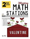 MATH STATIONS - Common Core - Grade 2 - FEBRUARY