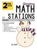 MATH STATIONS - Common Core - Grade 2 - JANUARY
