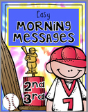 Morning Messages RF.2.3, RF.2.4, L.2.2 April RF.3,3 RF.3.4