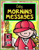 Morning Messages RF.1.3 RF. 1.3 L. 1.2 RF 2.3 RF 2.4 L.2.2
