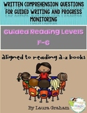 Written Comprehension Questions levels F-G