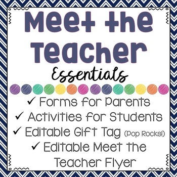 MEET THE TEACHER NIGHT ESSENTIALS: Important Forms & Activities