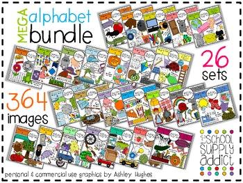 MEGA Alphabet Bundle N-Z {Graphics for Commercial Use}