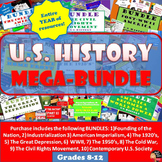 MEGA BUNDLE (1 Year Curriculum) for U.S. History (Grades 8