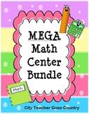 MEGA Math Centers Bundle - 35 no prep math centers for 3rd