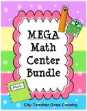 MEGA Math Centers Bundle - 37 no prep math centers for 3rd
