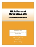 MLA Exercises #2: Parenthetical Citations