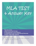 MLA Format Test with Answer Key