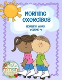 MORNING EXERCISES -  {Morning Work ~ volume 4}
