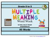MULTIPLE MEANINGS WORD WORK
