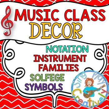 MUSIC CLASSROOM DECOR BUNDLE RED   *Games*Posters *Bulleti