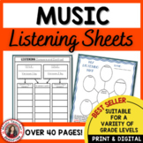 MUSIC: Listening Journal Activities