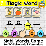 Magic Sight Words Game for Whiteboards, Smartboards & Computers