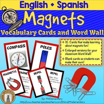 Magnet Vocabulary Cards and Word Wall