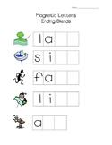 Magnetic Letter Literacy Center for Ending Blends