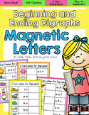 Magnetic Letters Word Work- Beginning and Ending Digraphs