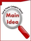 Main Idea Cut & Paste Category Board -Guided Practice or A