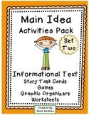 Main Idea Details Summary - Informational Text (Nonfiction