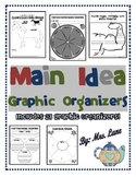 Main Idea Graphic Organizers (Includes 23 Graphic Organizers!)