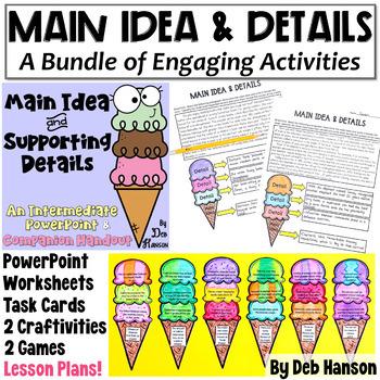 Main Idea & Support. Details MEGA-BUNDLE: Craftivities, PPT, Worksheets,  more!