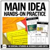 Main Idea in a Bag: Hands-On Practice with 10 Social Studi