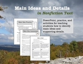 Main Ideas and Details in Nonfiction Text