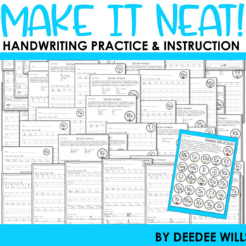 Handwriting -  Make It Neat!  Handwriting Practice, Instruction, and  Fluency