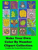 Make Your Own Color By Number Clipart Collection-16 Images