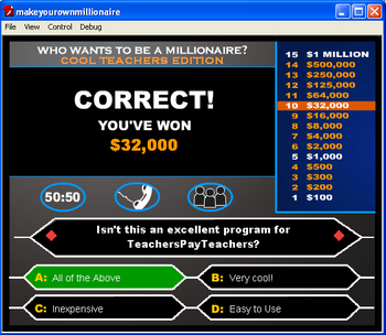 Make Your Own MILLIONAIRE Game!
