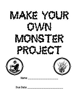 Make Your Own MONSTER Project Packet