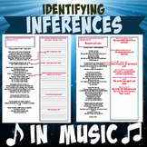 Making Inferences in Popular Songs with Suggested Answer Key