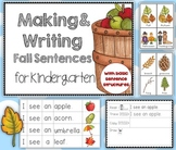 Making and Writing Fall Sentences for Kindergarten {vocab