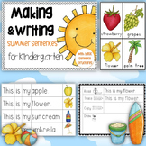 Making and Writing Summer Sentences for Kindergarten {voca