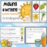 Making and Writing Summer Sentences for Kindergarten {voca