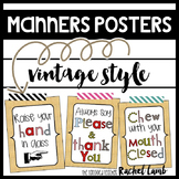 Manners Posters and Reminders for Classroom