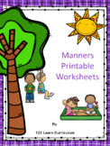 Manners - Worksheets and Crafts