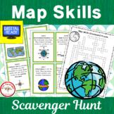 Map Skills Scavenger Hunt with 2 bonus activities