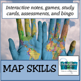 Map Skills Unit:  Make Geography Fun with Bingo!