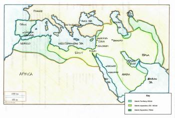 Map: The Spread of Islam