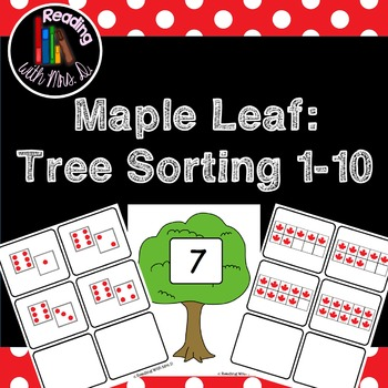 Maple Leaf: Tree Sorting Mats 1-10