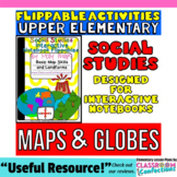 Maps, Globes, and Landforms {flippables for Social Studies