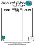 Maps and Globes KWL Chart